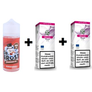 DR. FROST - Shake & Vape - E-Liquid - 100ml - 3mg Polar Ice Vapes - Strawberry Ice (inkl. 2x 18mg Nikotinshots)