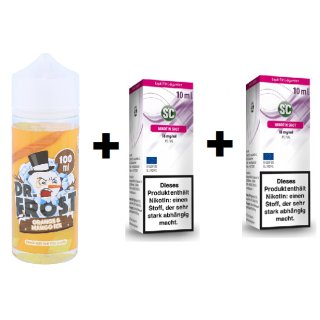 DR. FROST - Shake & Vape - E-Liquid - 100ml - 3mg Polar Ice Vapes - Orange Mango Ice (inkl. 2x 18mg Nikotinshots)
